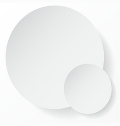 White circle abstract background with shadows for vector image vector image