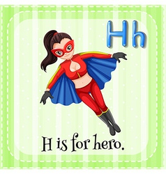 A letter H for hero vector