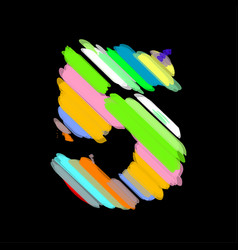 abstract colorful number 5 vector image
