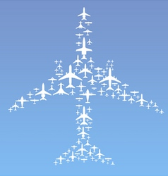 Airplane formation vector