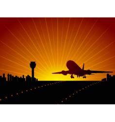 airport landing vector image