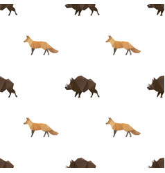 boar and fox triangle pattern backgrounds vector image