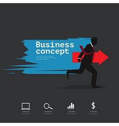 Business infographic with businessman vector