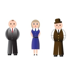Business people isolated on white background vector