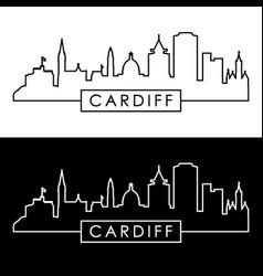 cardiff skyline linear style editable file vector image