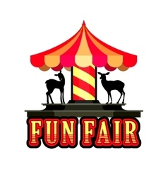 Carousel fun fair vector image