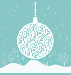 cartoon for holiday theme on winter background vector image