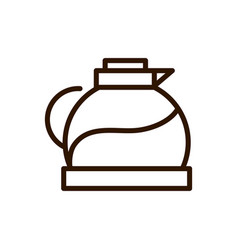 coffee maker glass with handle line design vector image