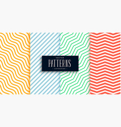 collection geometric minimal lines pattern set vector image
