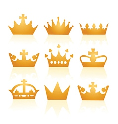 Collection of crowns vector