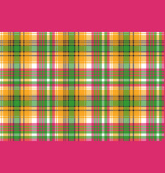 colors madras plaid textile texture seamless vector image