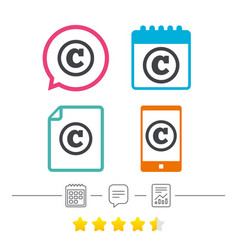 Copyright sign icon copyright button vector