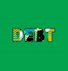 debt concept word art vector image