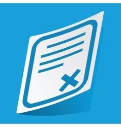 Declined document sticker vector