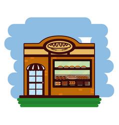 delicious bakery cartoon vector image