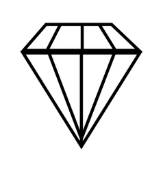 diamond gem jewelry vector image