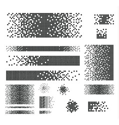dissolved filled square vector image