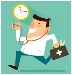 Doctor around the clock vector