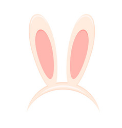 easter bunny ears mask isolated on white vector image