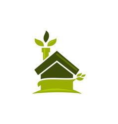 Eco home vector