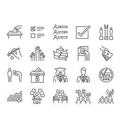 election line icon set vector image