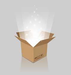 empty magic opened box vector image