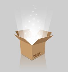 Empty magic opened box vector