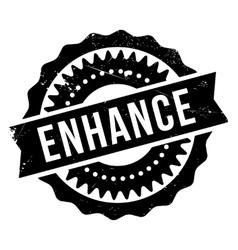 Enhance stamp rubber grunge vector