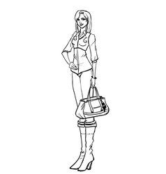 Fashionable woman vector image