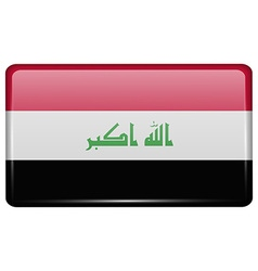 Flags Iraq in the form of a magnet on refrigerator vector