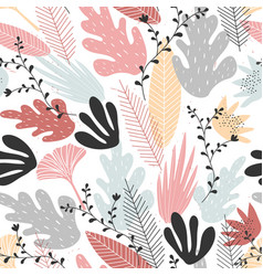 floral seamless pattern with large elements in vector image