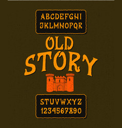 Font old story vector