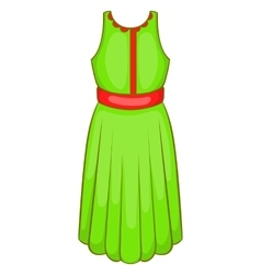 Green dress icon cartoon style vector image