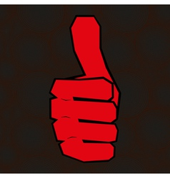 hand with thumb up vector image
