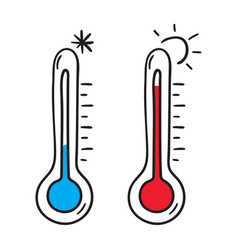 icon thermometer vector image