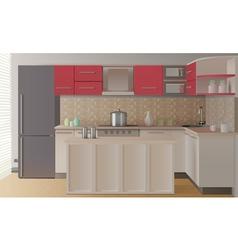 Kitchen Interior Composition vector