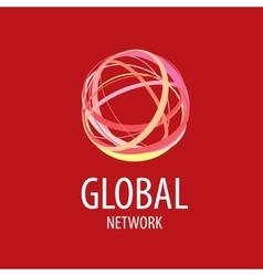 logo global network vector image