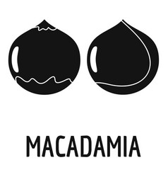 macadamia icon simple style vector image