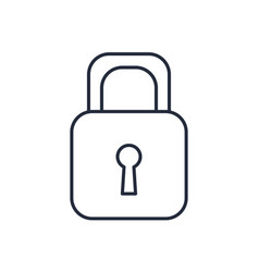 padlock lock security protection image vector image