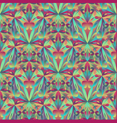 Polygonal abstract geometrical triangular flower vector