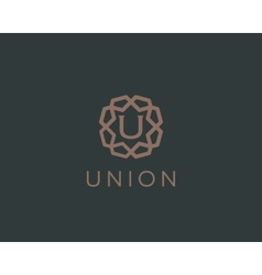 Premium letter U logo icon design Luxury vector