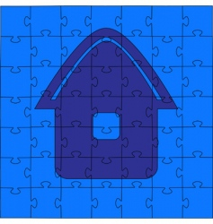 puzzle house illustration vector image