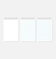 realistic spiral notebook mockup realistic vector image