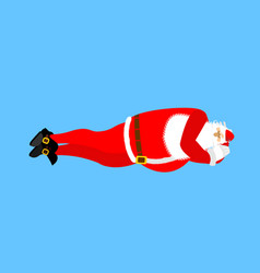 santa claus sleeps isolated rest before work vector image