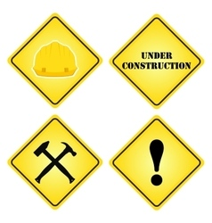 Set of signs under construction flat style for vector
