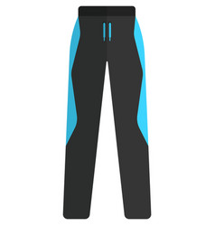 Ski pants winter sport equipment vector
