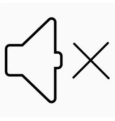 Speaker mute icon vector