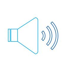 speaker sound volume audio button icon vector image