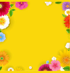 spring poster with flowers vector image