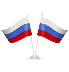 Table stand with flags of Russia vector image